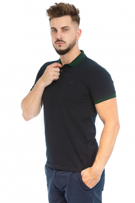 Tricou Polo Bleumarin
