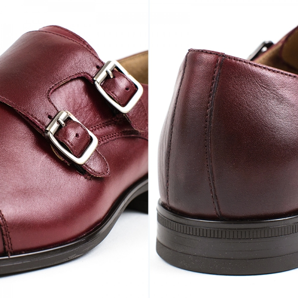 Pantofi Barbati DOUBLE MONK BORDO