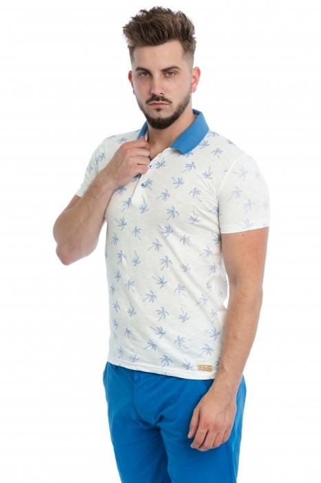 Tricou Polo Alb exotic