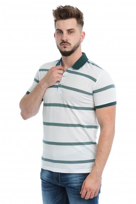 Tricou Polo Alb Dungi V