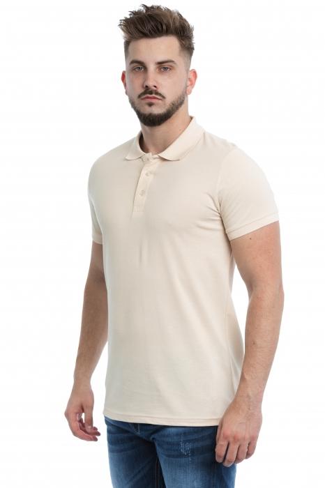 Tricou Polo Crem